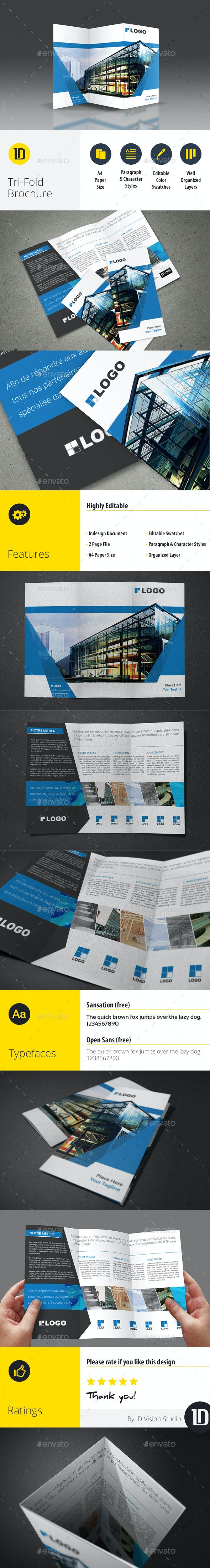 A4 Corporate Tri-Fold Brochure - Corporate Brochures