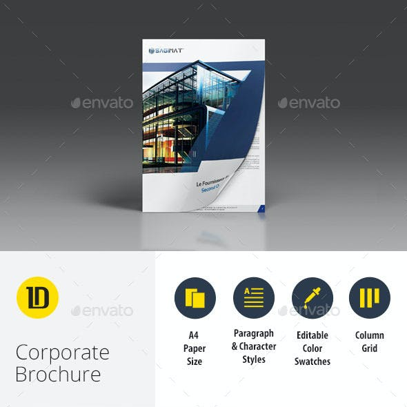 Corporate Business A4 Brochure 8 Pages InDesign