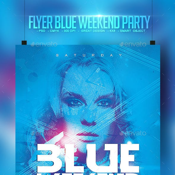 Flyer Blue Weekend Party
