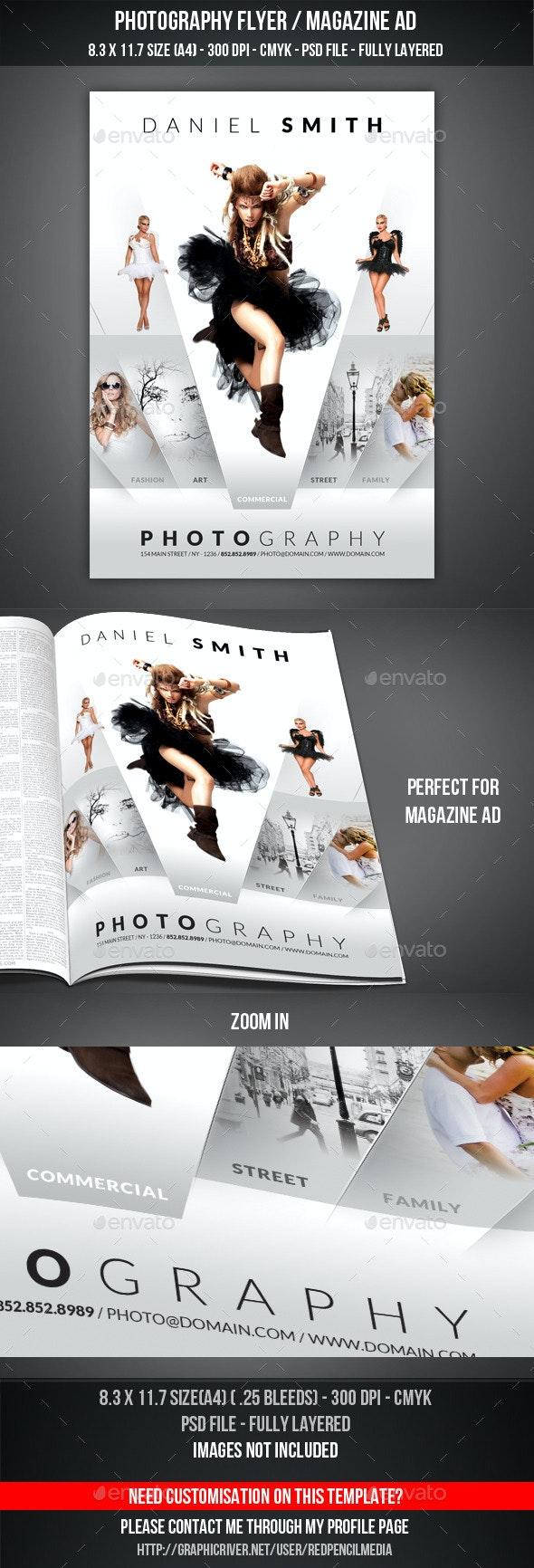 Photography Flyer / Magazine AD - Flyers Print Templates