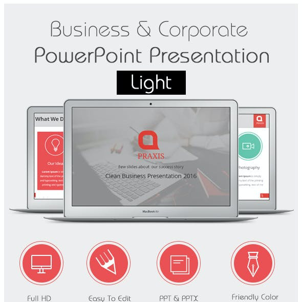Corporate Powerpoint Presentation Light
