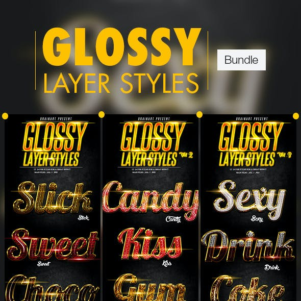 Glossy Layer Styles Bundle