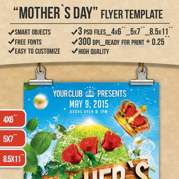 Mothers Day Flyer Print Template
