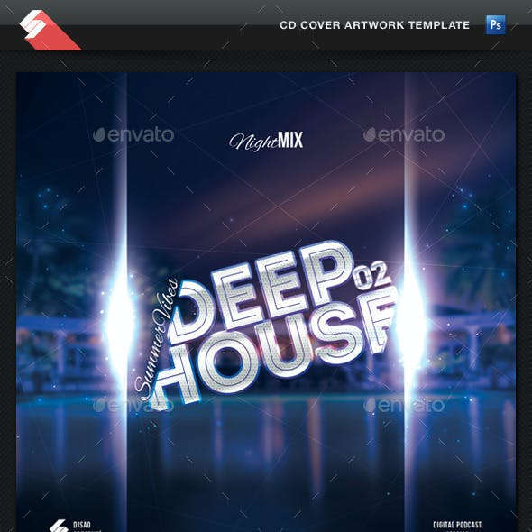 Summer Vibes 02 - Deep House CD Cover Template