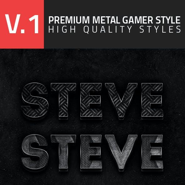 Premium Metal Gamer Style V1