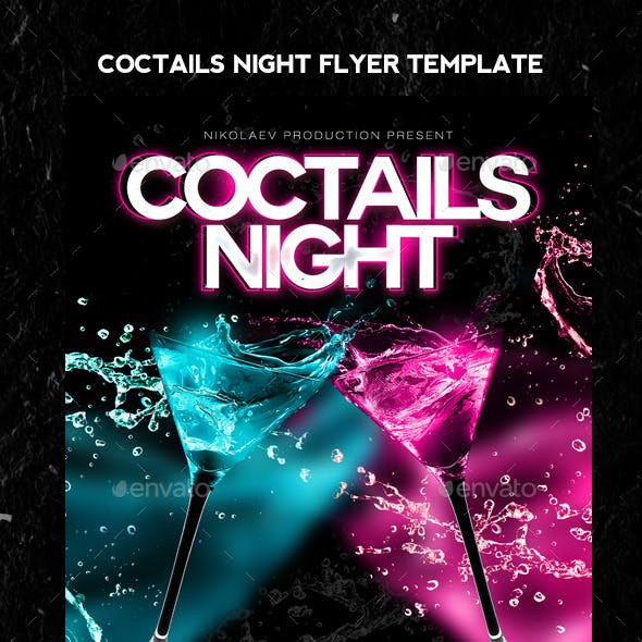 Coctails Night Flyer