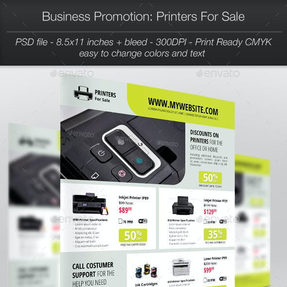 Business Promotion Printers For Sale