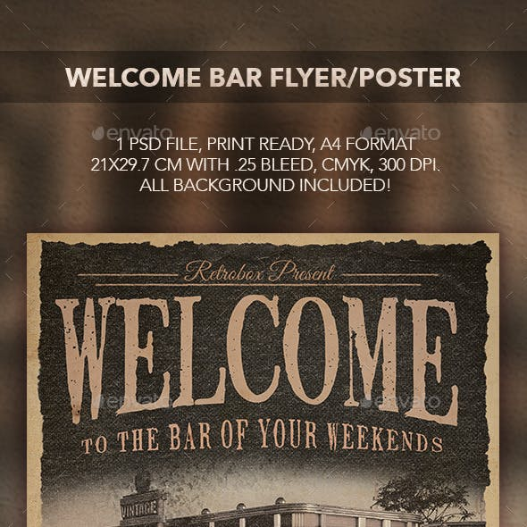 Welcome Bar Flyer/Poster