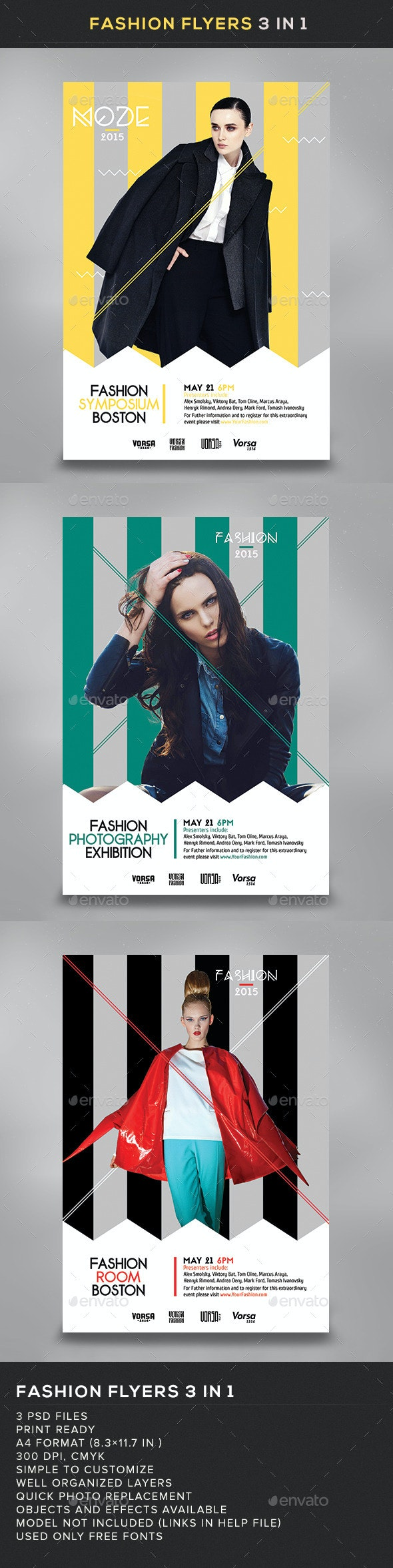 Fashion Flyers 3 in 1 - Miscellaneous Events