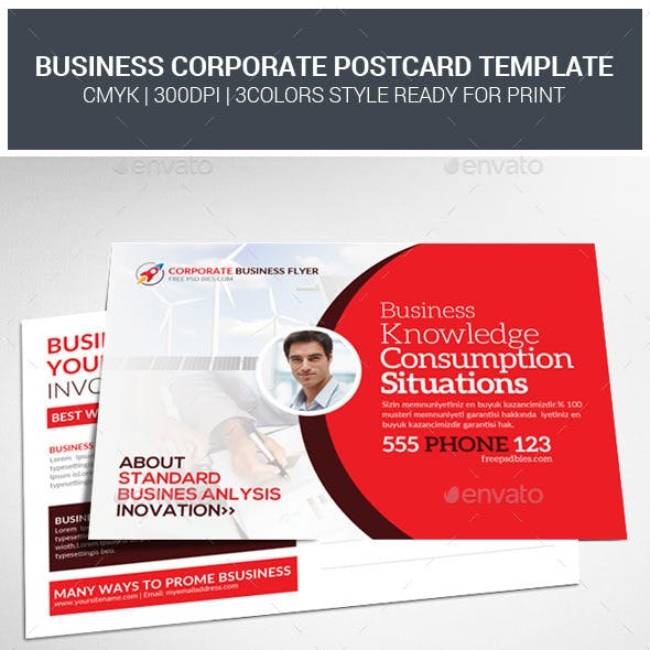 Corporate Business Postcards Psd