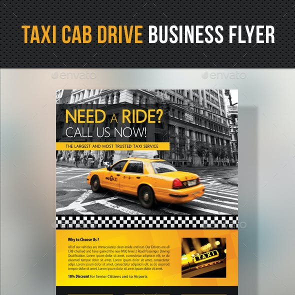 Taxi Cab Drive Business Flyer V2