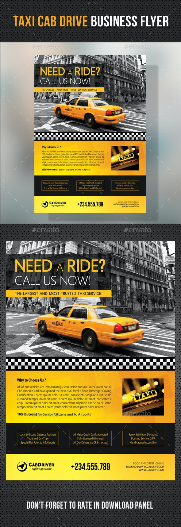Taxi Cab Drive Business Flyer V2 - Corporate Flyers