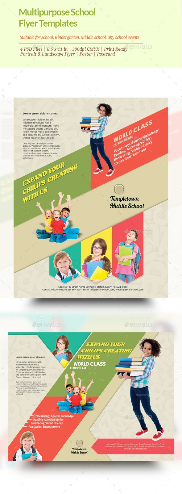 Multipurpose School Flyer templates - Events Flyers