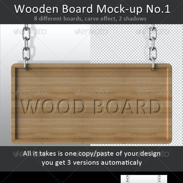 Wooden Board Mock-up No.1