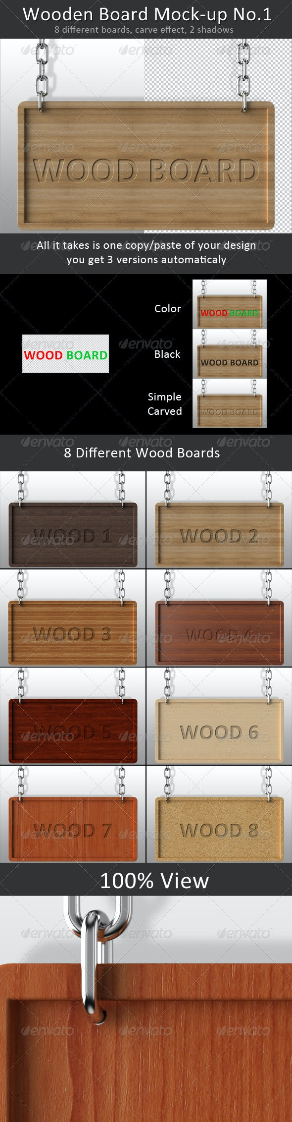 Wooden Board Mock-up No.1 - Miscellaneous Product Mock-Ups