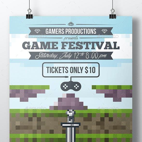 Game Pixel Art Poster Template