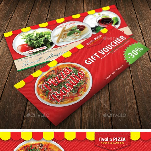Italian Pizza Restaurant Voucher Template 31