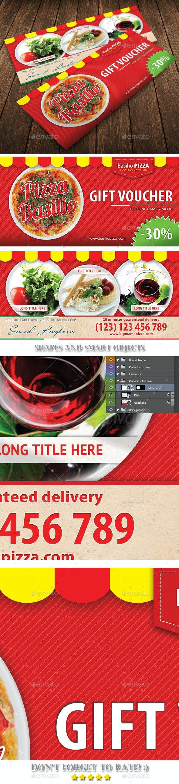 Italian Pizza Restaurant Voucher Template 31 - Cards & Invites Print Templates