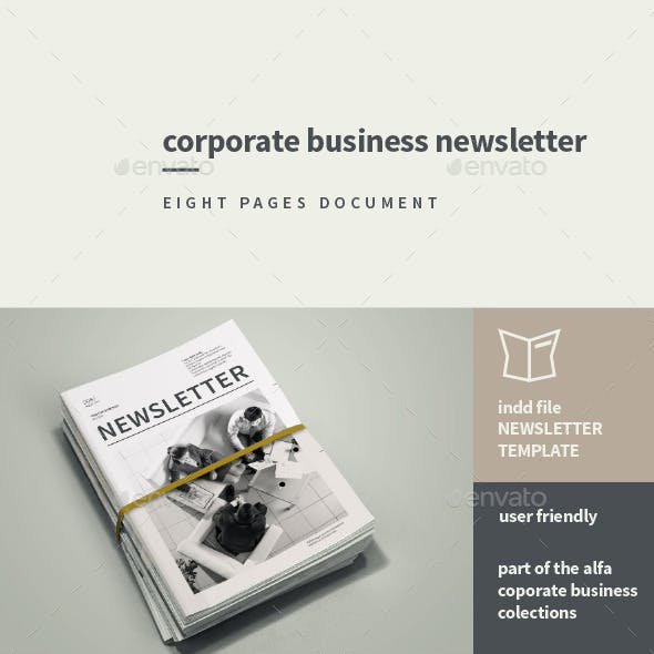 Corporate Business Newsletter