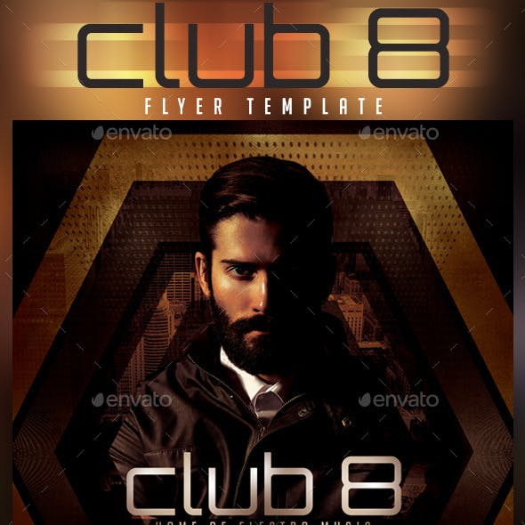 Club 8 Classic House Flyer Template