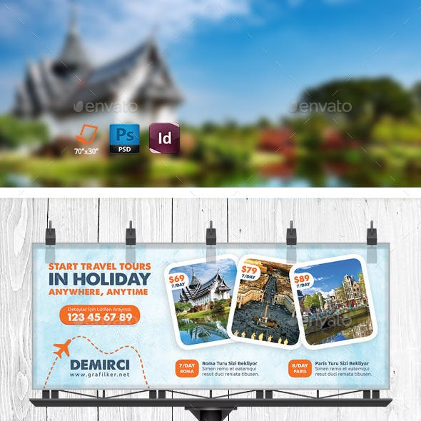 Travel Tour Billboard Templates