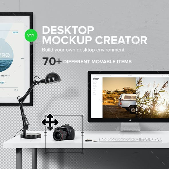Macbook - Desktop Mockup Creator
