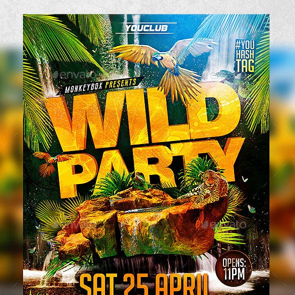 Wild Party Flyer Konnekt