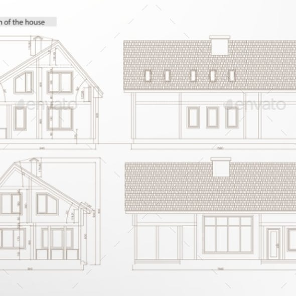 Architectural House Blueprint