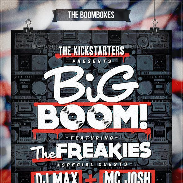The Boomboxes - Flyer & Poster