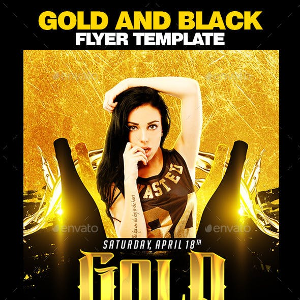 Gold And Black Flyer Template