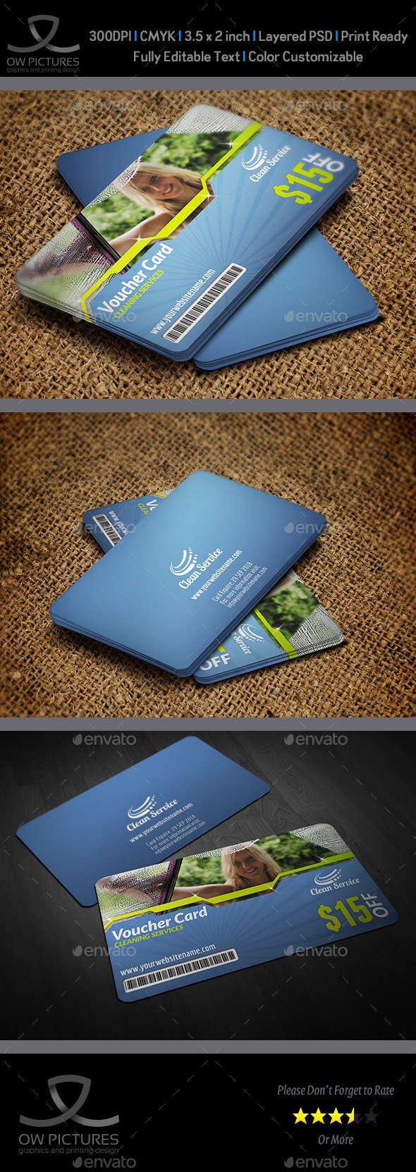 Cleaning Services Voucher Gift Card - Cards & Invites Print Templates