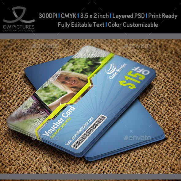 Cleaning Services Voucher Gift Card