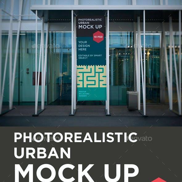 Photorealistic Poster / Billboard / Banner Mock Up