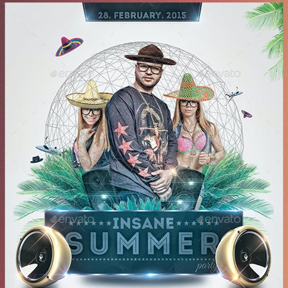 Insane Sumer Party Template