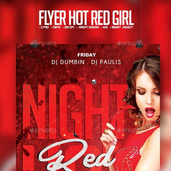 Flyer Hot Red Girl