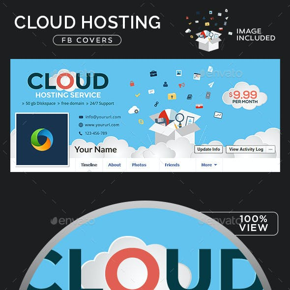 Cloud Hosting Facebook Cover