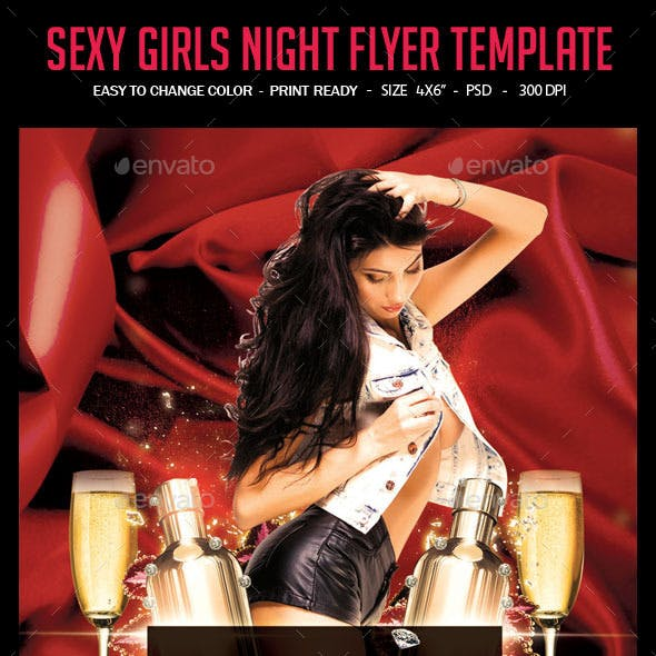Sexy Girls Night Flyer Template