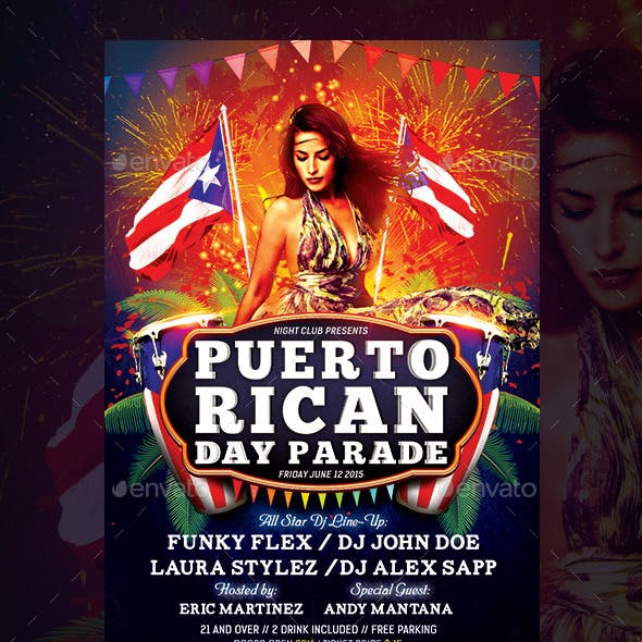 Puerto Rican Day Parade Flyer