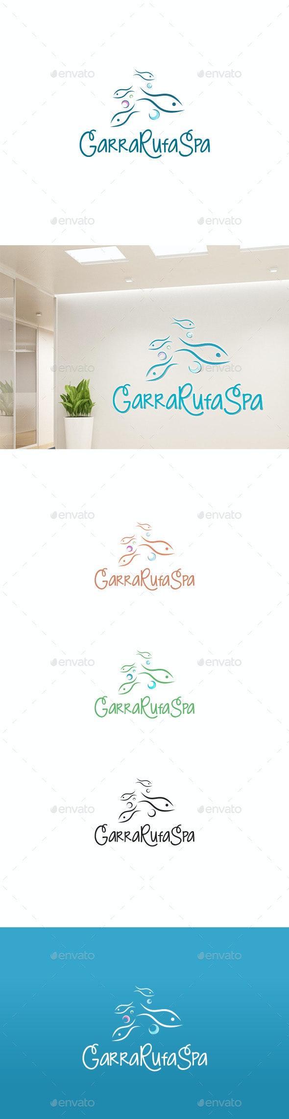 Fish Garra Rufa Logo - Animals Logo Templates