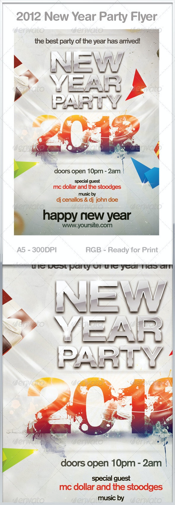 2012 Splash Flyer - Clubs & Parties Events