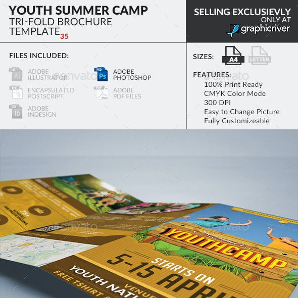 Trifold Brochure 35: Summer Youth Camp