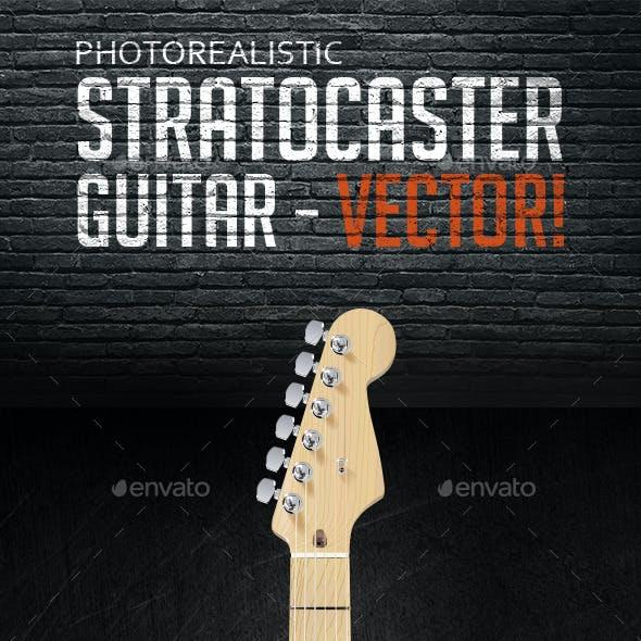 Photorealistic Vector Stratocaster Guitar