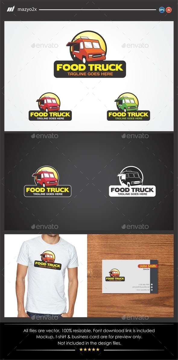 Food Truck Logo - Objects Logo Templates