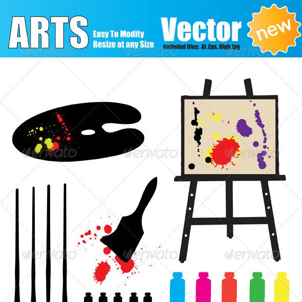 Vector Artist Tools Silhouette Set