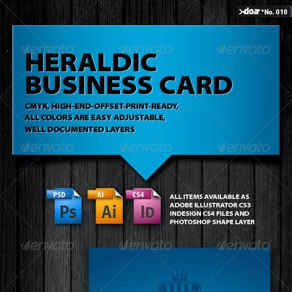 Heraldic Business Card