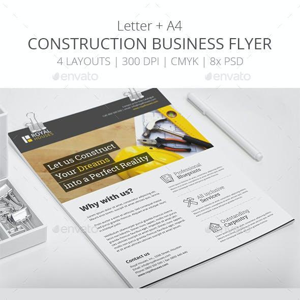Construction Business Flyer - Letter + A4