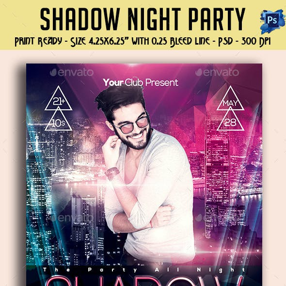 Shadow Night Party Flyer Template