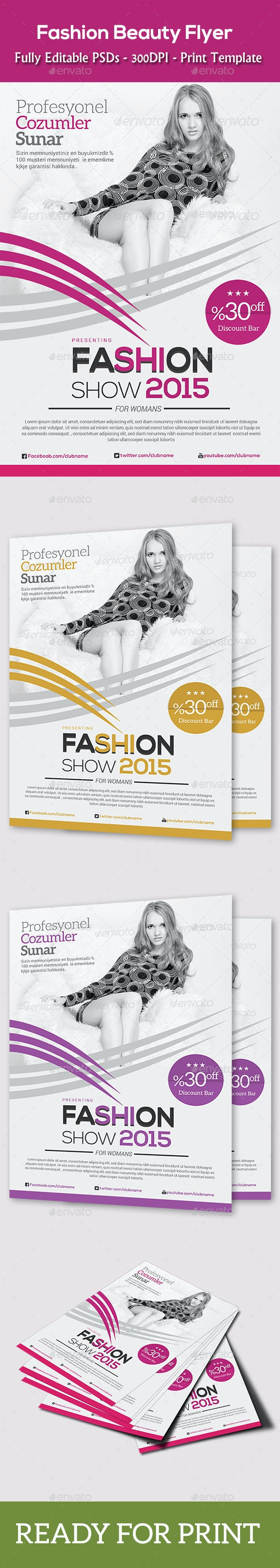 Fashion Agency Flyer - Clubs & Parties Events