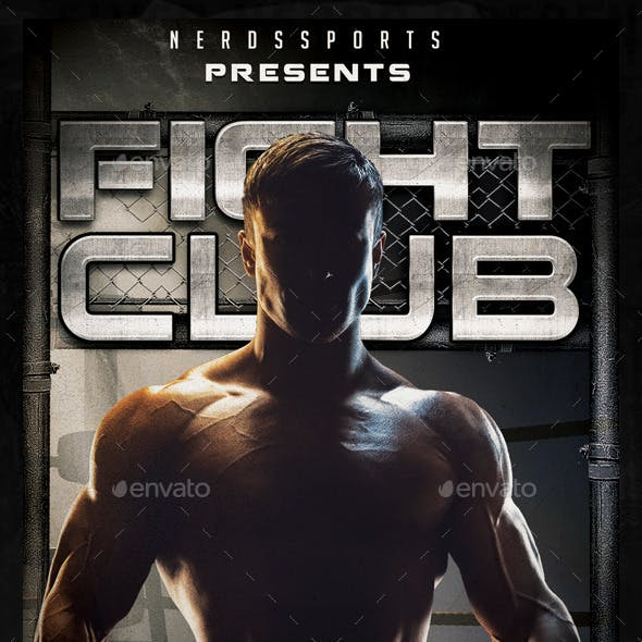 Fight Club Sports Flyer