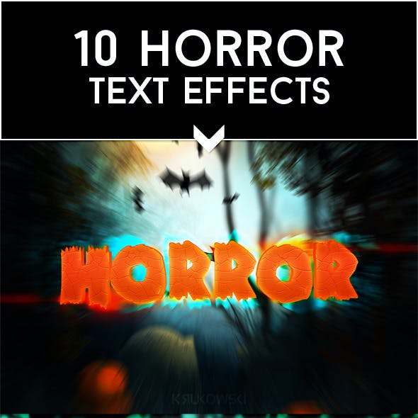 Horror Text Effects